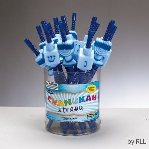 These fun Hanukkah themed straws are perfect for your holiday meals and great for the kids!