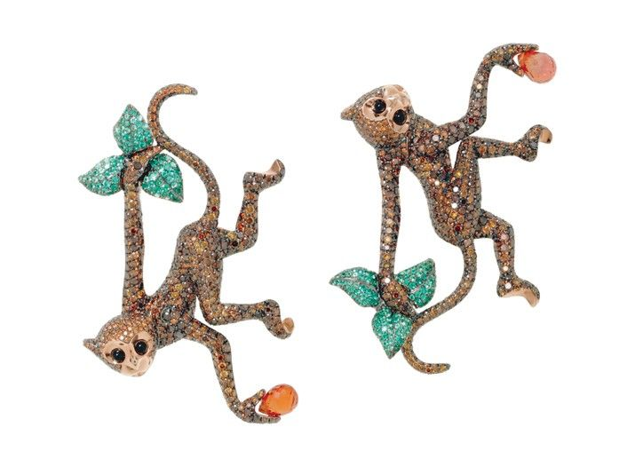 17 best images about jewelry for year of monkey on for Chopard animal world jewelry collection