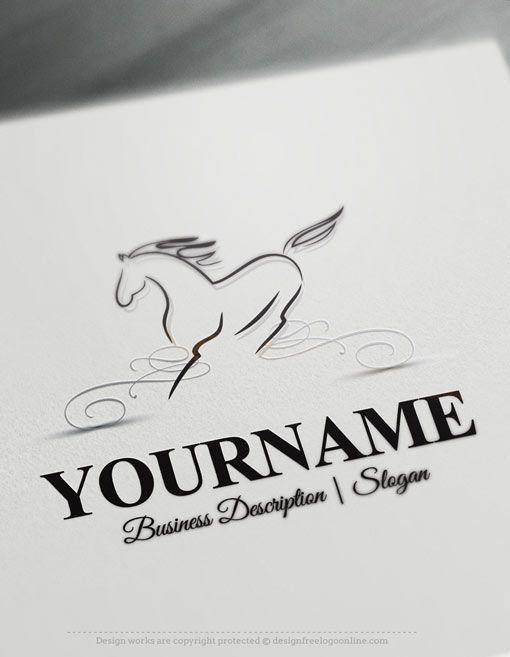Design-Free-Logo-Horse-online-Logo-Template