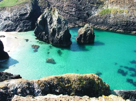 This is Kynance Cove in Cornwall