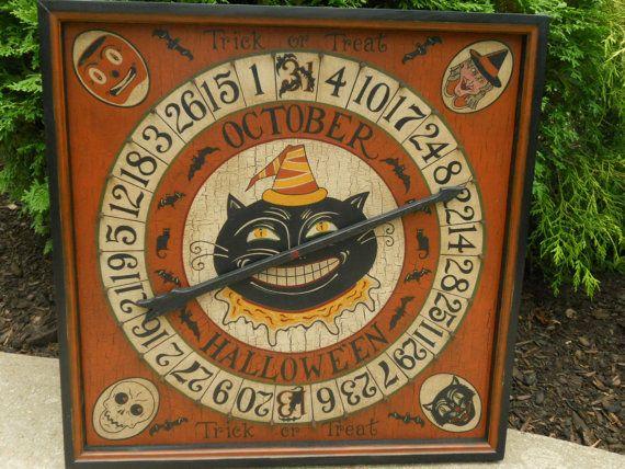 primitive folk art halloween roulette game by johnnyunamath 15000
