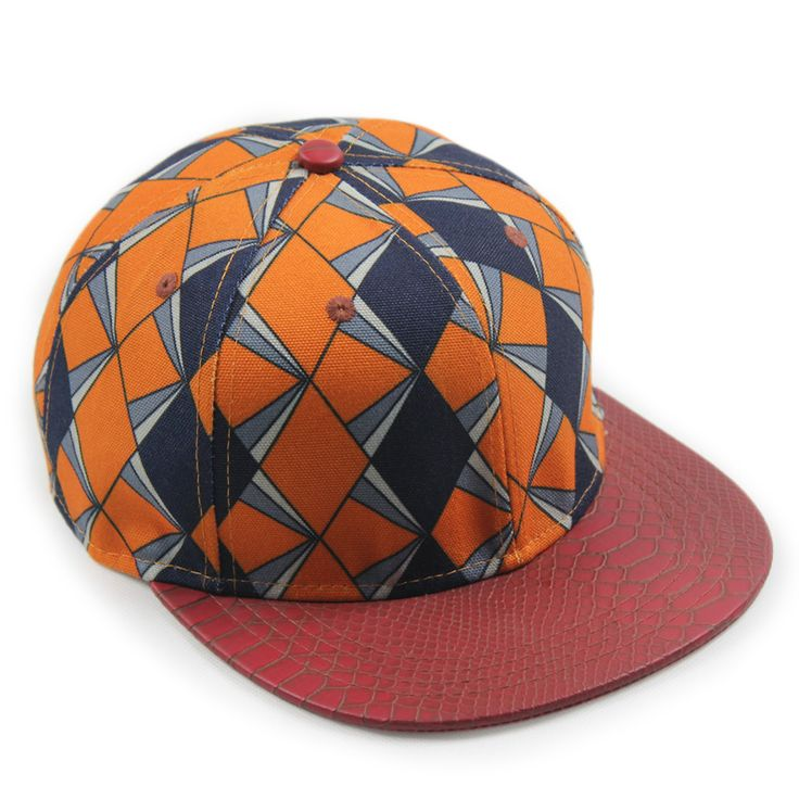 baseball cap design maker app template free fashion geometric snakeskin pattern hip hop caps