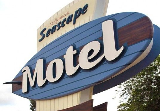 Mollymook Seascape Motel Sign / Danthonia Designs