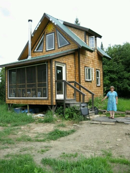 500 Sq. Ft. Tiny Cabin: Simple Living in your own Homestead | Tiny House Pins
