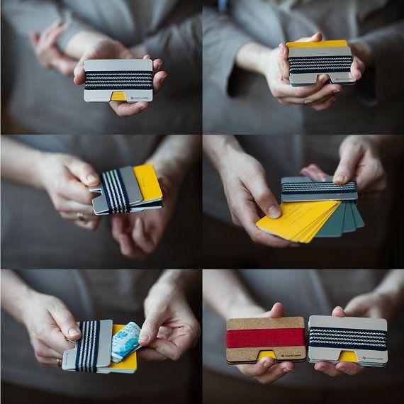Metal wallet, credit card wallet, men and women wallet , aluminum slim minimalist , modern design NW by ElephantWallet