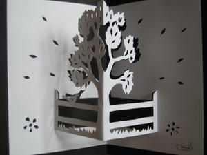Gabarits gratuits de pop-up, kirigami - cartes postales pop-up kirigami