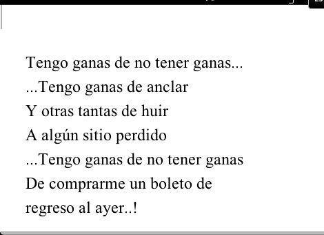 Tengo ganas de no tener ganas!!! #AsignaturaPendiente @Ricardo_Arjona