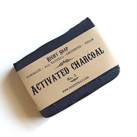Charcoal  Soap, Men soap,  Activated Charcoal Soap  - All Natural Soap, Vegan Soap, Unscented Soap, Handmade Soap, gift for men,