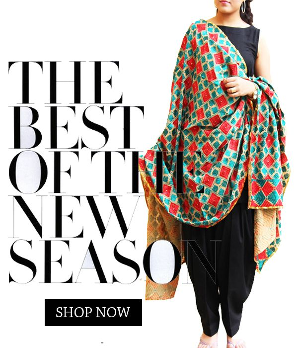 It's raining phulkari! Shop lovely dupattas on theindianspring.com #theindianspring #phulkari #dupattas