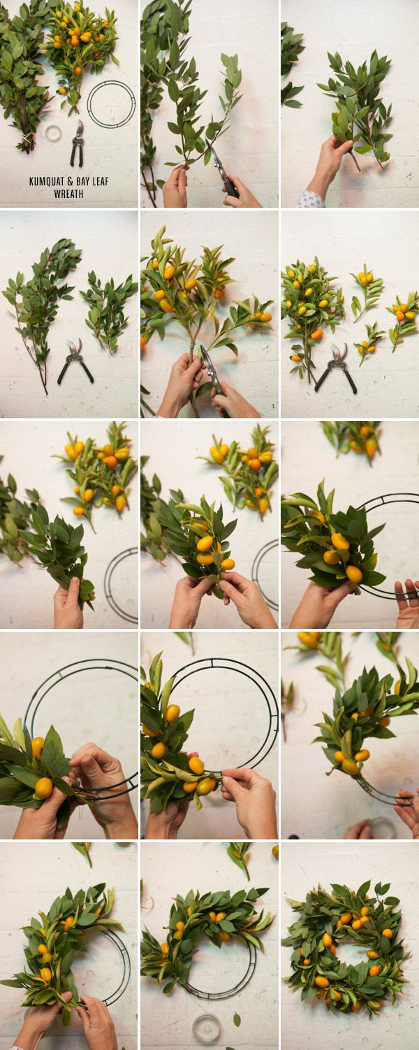 to make for mom for Christmas? Florida-esque wreath 3 Wreaths to Make for the Holidays / Oh Happy Day