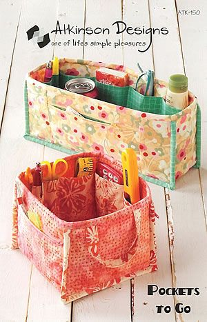 Love this, would be great for transporting quilting or cross stitch stuff from sewing room to family room