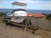 19 FT ZULUCAT FOR SALE. 2 X 60HP TWO STROKE YAMAHAS, Fish finder, seaworthy and ready to fish, breakneck trailer, live bait hatches. R 95 000.00 or to swop for double/super cab bakkie. Whatsapp or e-mail for more info