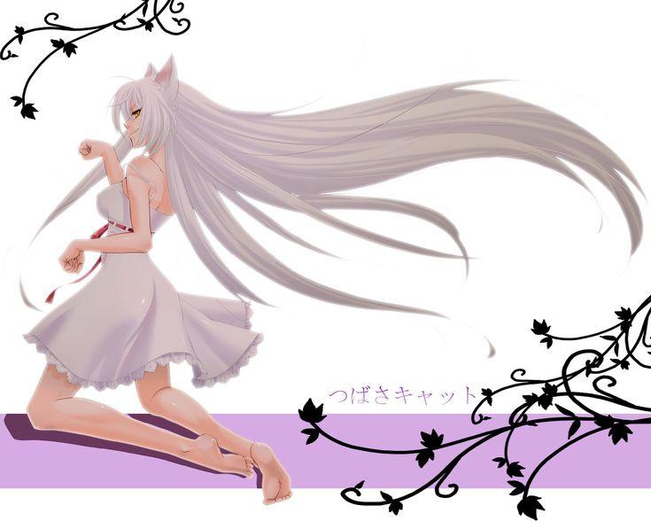 65 best images about monogatari series black hanekawa on - Manga femme chat ...