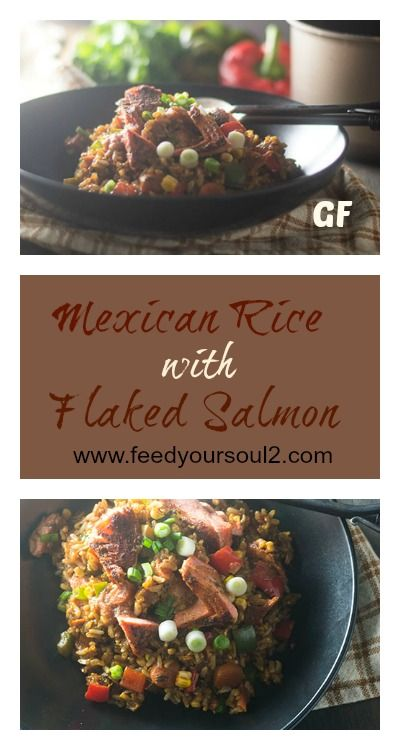 Mexican Rice with Flaked Salmon from Feed Your Soul Too Seafood   Gluten Free   One Pot Meal