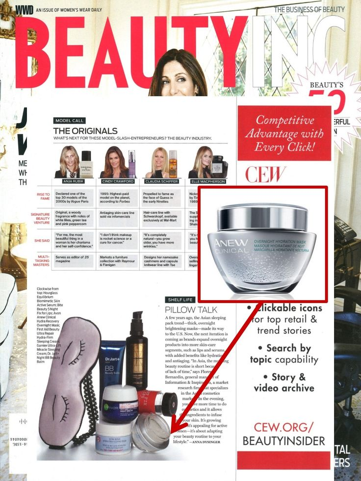 @wwd featured our ANEW Clinical Overnight Hydration Mask in their latest issue…