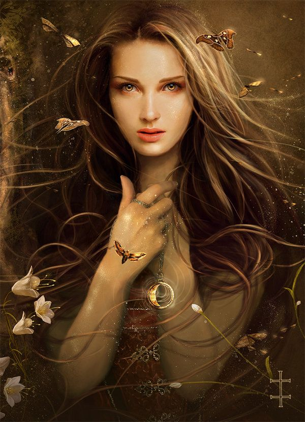 """Witch Born"" Artist: Eve Ventrue, Digital Art #fantasy #imagination"