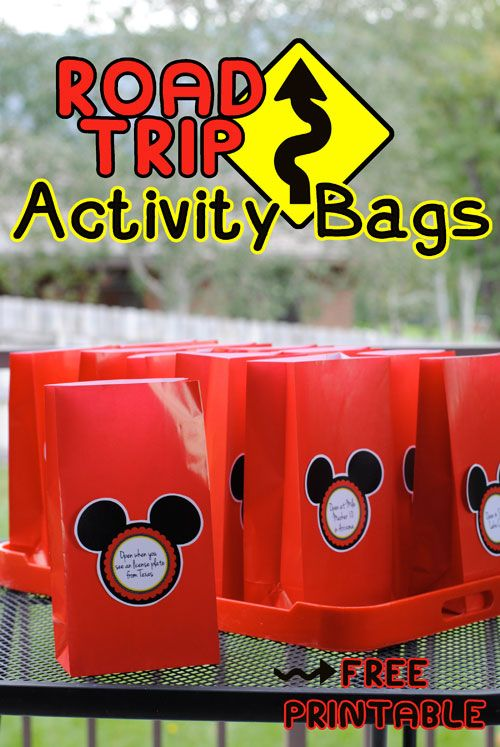 Get ready for your Disney vacation!! Road Trip Activity Bags for Disneyland (she: Adelle) ~ Or so she says...
