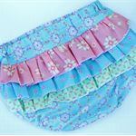 Baby girl ruffled nappy cover/bloomers size 9-12 months