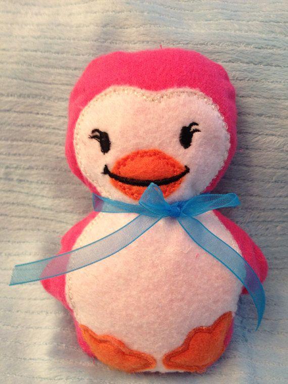 Sweet Mamma Penguin  Pink by shabbylaneshops on Etsy, $8.99