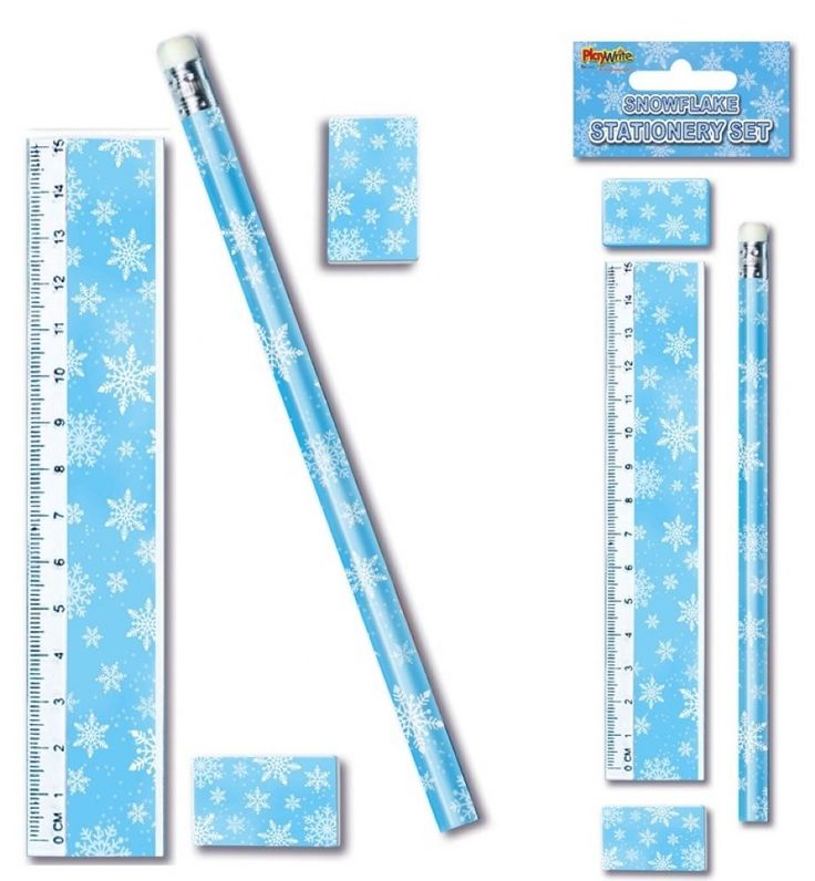 BLUE FROZEN SNOWFLAKE DESIGN STATIONERY SETS ~ Stocking Fillers Fillers #Playwrite #Christmas
