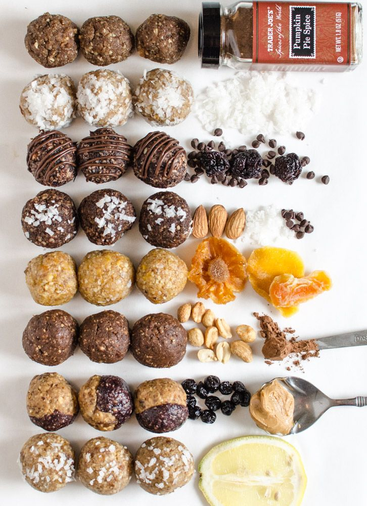 8 Energy Bites Recipes that everyone needs! These simple treats are healthy eating/snacking/dessert perfection, & I have a batch in my freezer at all times.