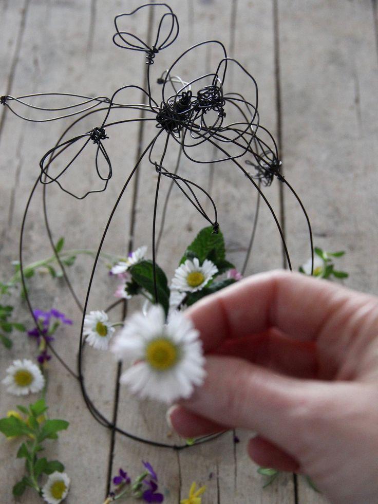 gabbietta con fiori o uccellino : Accessori casa di filidipoesia