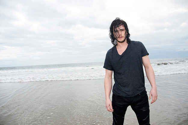 Kit Harrington Gets Soaking Wet In New Photo Shoot