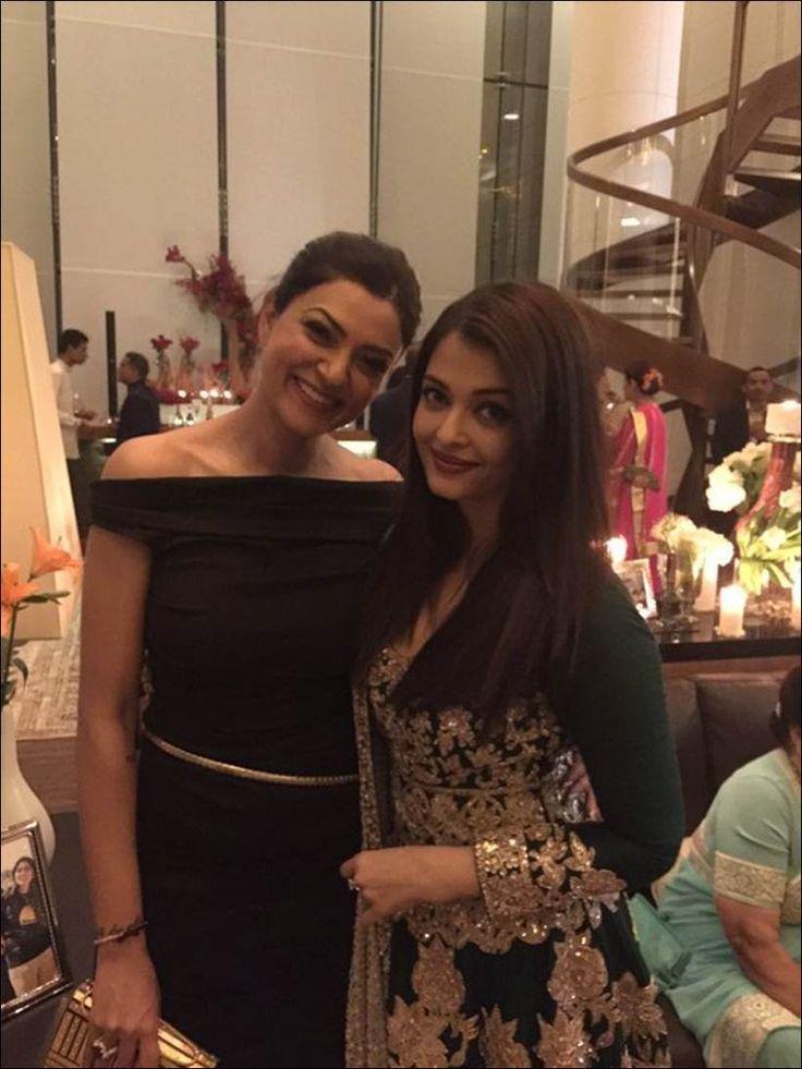 Aishwarya Rai Bachchan and Sushmita Sen at Ambani's party. #Bollywood #Fashion…