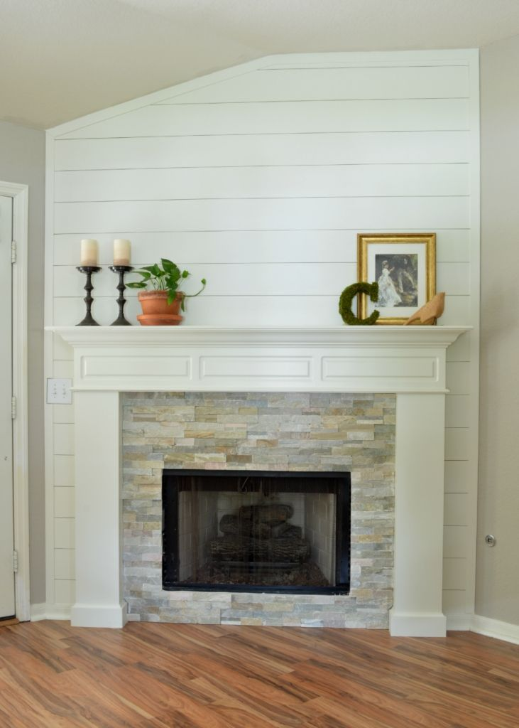 Red brick fireplace makeover fireplace makeover take 2 - Red brick fireplace makeover ideas ...
