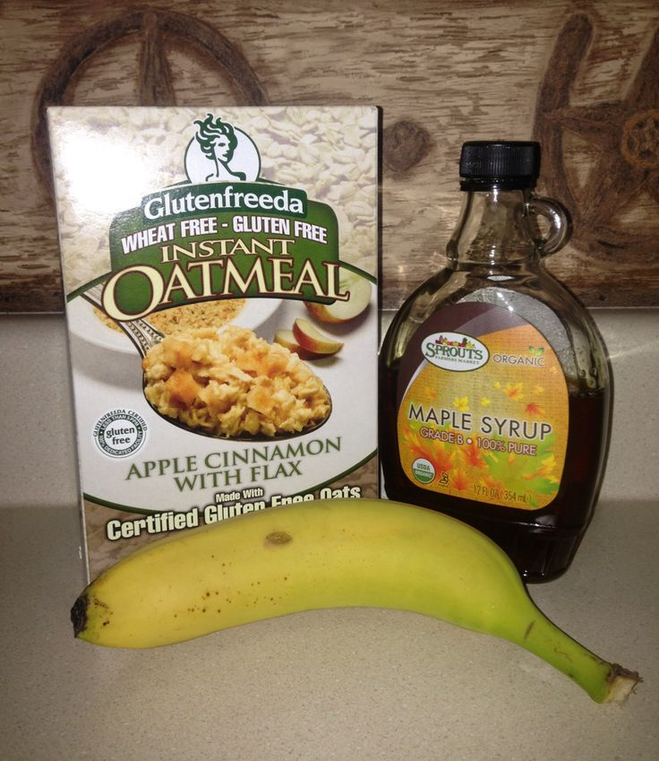 Delicious healthy breakfast! Purchase glutenfreeda instant oatmeal (apple cinnamon with flax) & sprouts organic 100% pure maple syrup from sprouts grocery store! You will also need 1 small banana! Cook oats then add 2 Tbsp of maple syrup & last add smashed up banana & ENJOY!  380 healthy calories & it tastes so good!