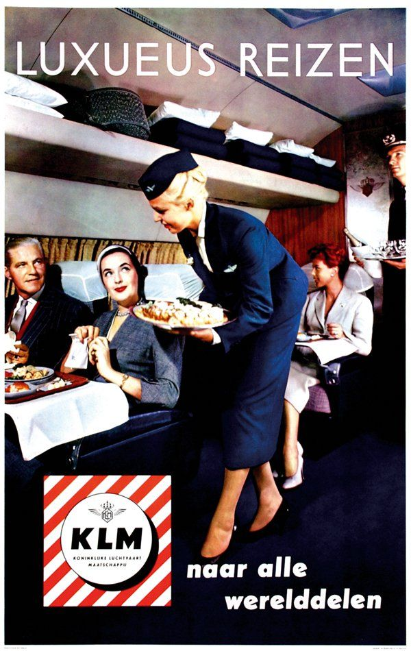 #KLM #advertisement 'Luxurious Travel', 1955. #greetingsfromnl