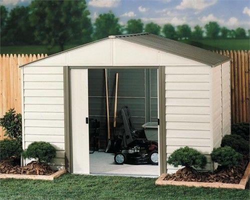 arrow vinyl coated metal milford 10x8 storage shed building kit storageshedsoutlet