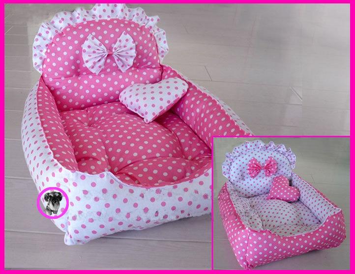 Code DB- 31 Princess  Reversible Handmade Cotton Dog Cat Bed House Sofa  Sz 30x40CM  Made to Order. $35.00, via Etsy.