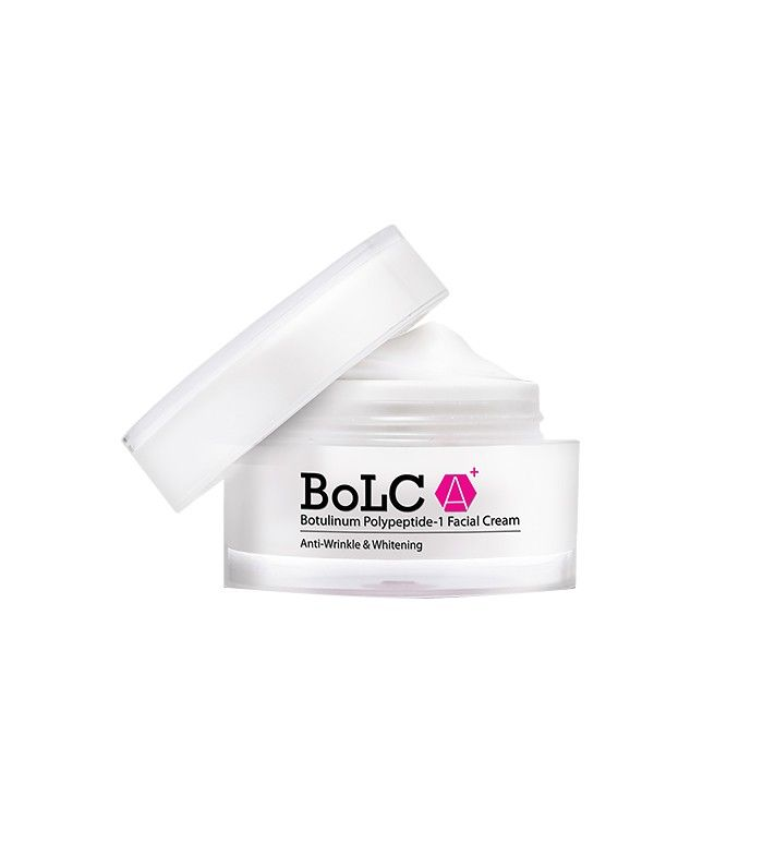 Midas Skin's BoLC A+ Botulinum Polypeptide-1 Facial Cream ($140) is formulated with that Korean FDA accredited anti-wrinkle ingredient