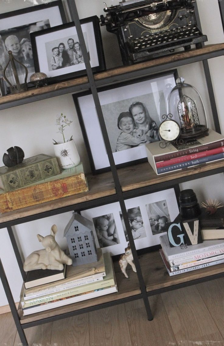 http://www.cadecga.com/category/Ikea/ Turning the Vittsjö shelving rustic and industrial