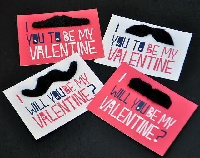 mustache valentines!Valentine'S, Valentine Day Cards, Mustaches Valentine, Printables Mustaches, Valentine Cards, Printables Valentine, Valentine Ideas, Valentine Boxes, Free Printables