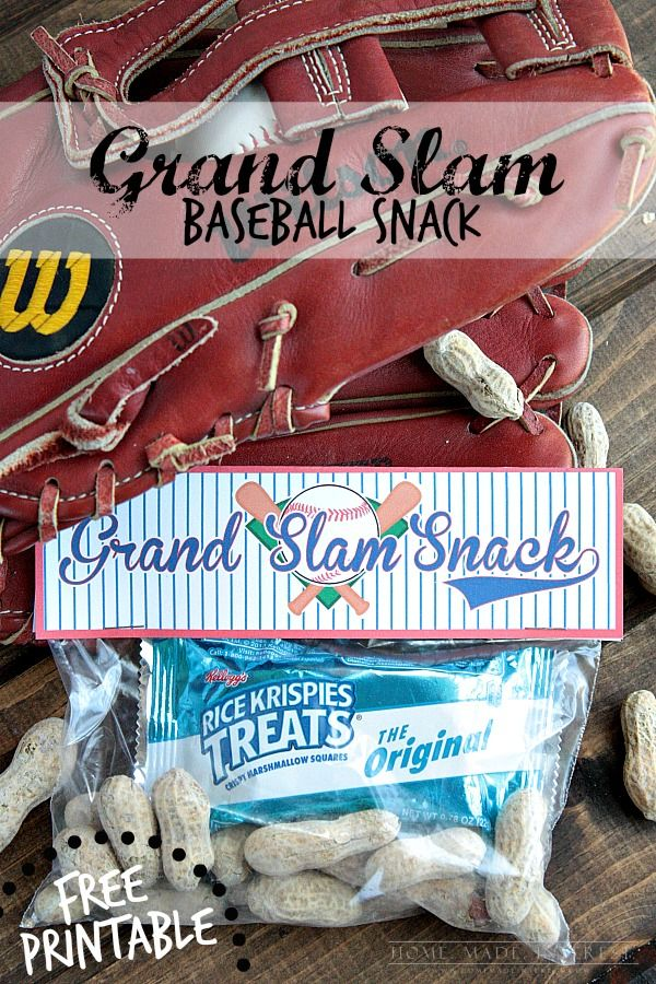 A simple baseball snack idea for a baseball party, or for a snack during a baseball game. Free baseball snack printable included. #GetKreative AD
