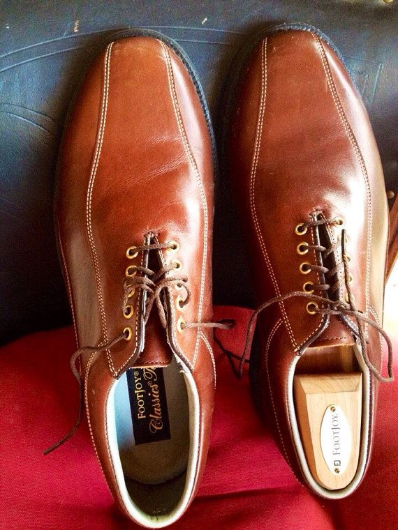 Mens Gold shoes FootJoy Classics Tour Golf Shoes by OceanOfFlowers