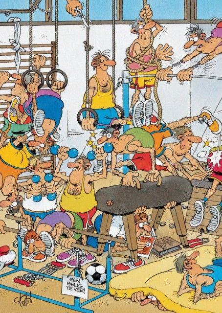 Jan van Haasteren: In de gymzaal (150 stukjes)
