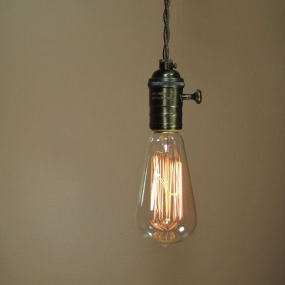 reserved for henry - rustic bare bulb pendant light with edison