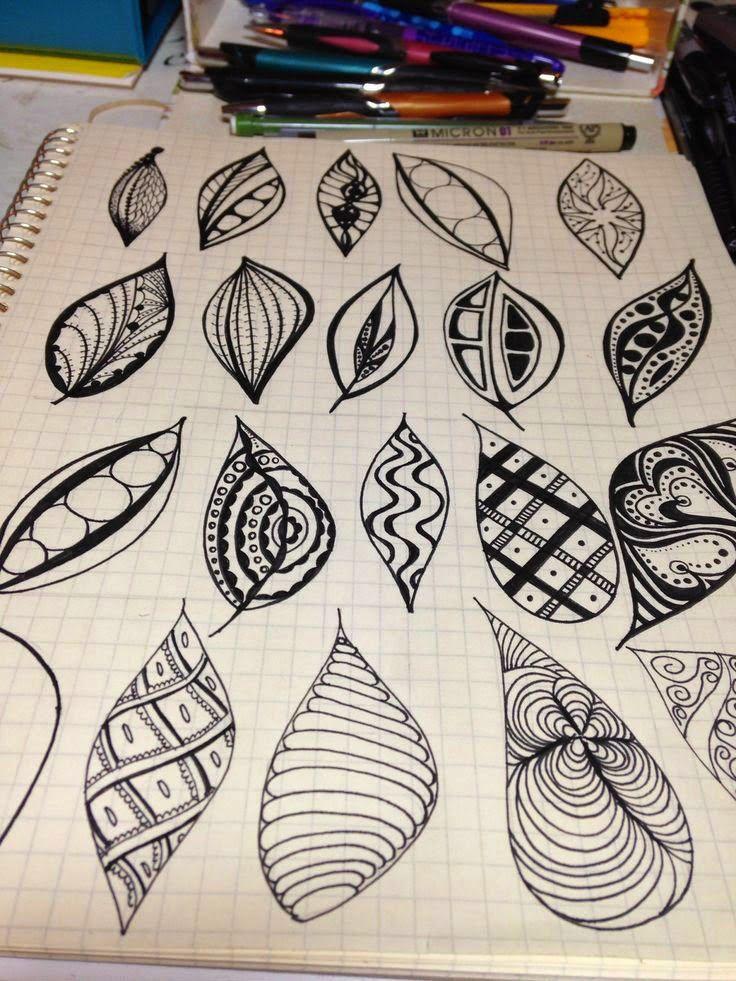 Zen Tangle leaf shapes