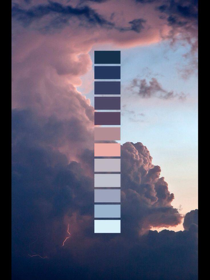 Dark blue - sky color palette