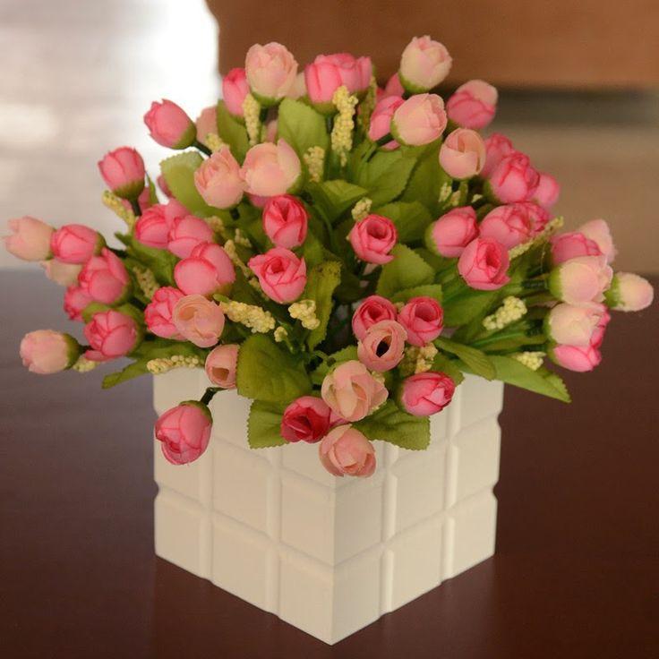 17 melhores ideias sobre Arranjos De Flores Artificiais no Pinterest  Arranj -> Decoracao Banheiro Flores Artificiais
