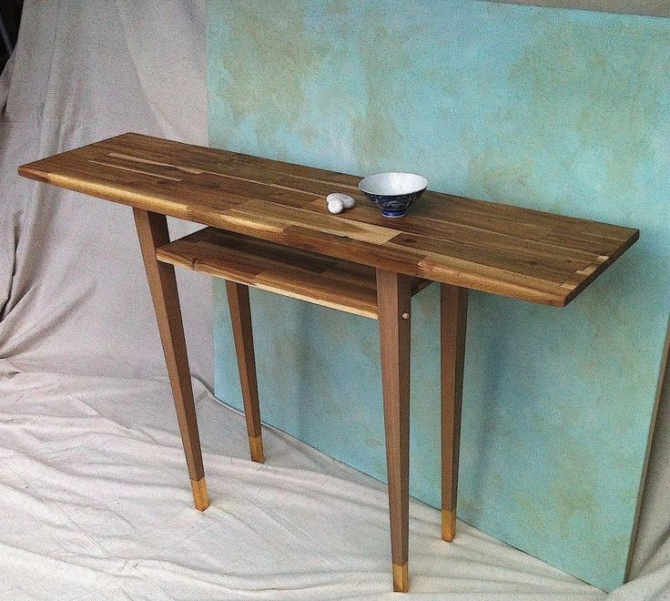 New elegant hall, entrance or console table with shelf 120 x 30x 77cm tall