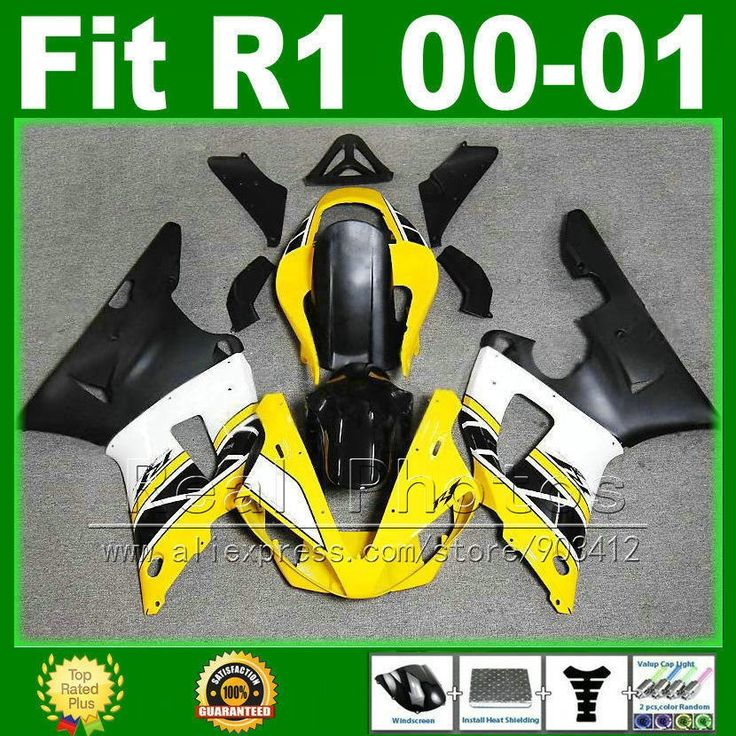 313.50$  Buy now - http://alilcu.worldwells.pw/go.php?t=32287494002 - Yellow white black fairings for YAMAHA R1 2000 2001 cheap fairing kit YZFR1 00 01 1000 YZF-R1 bodywork kits plastic parts