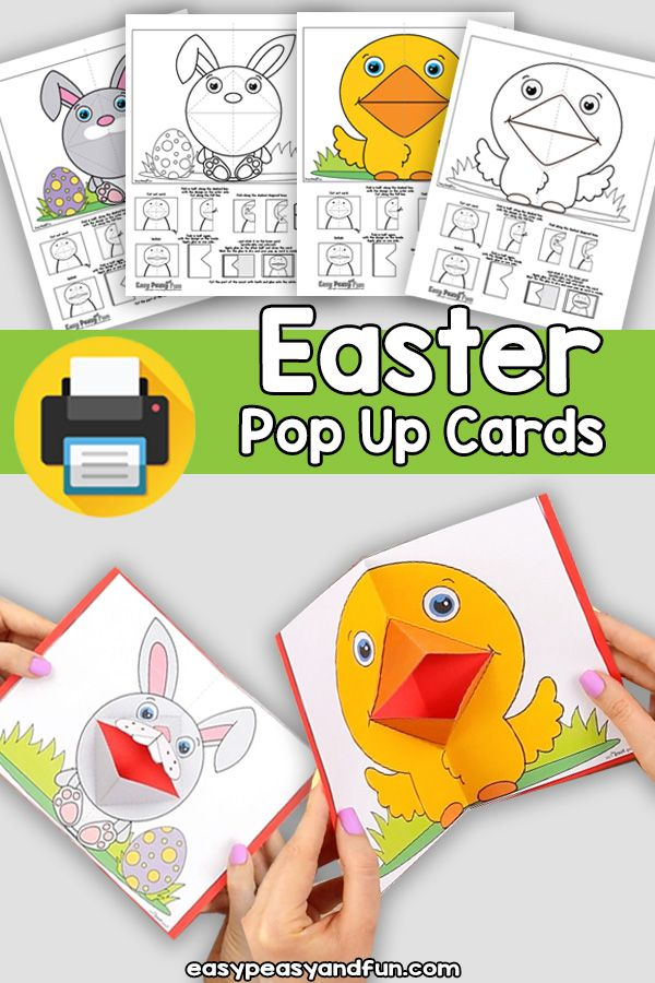 Easter Pop Up Cards Template Pop Up Cards Kids Pop Easter Arts And Crafts