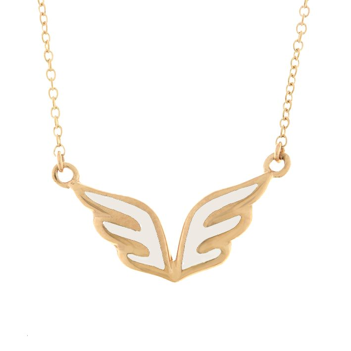 'Angel' necklace in pink and white essenza by VERY Gavello  www.verygavello.com
