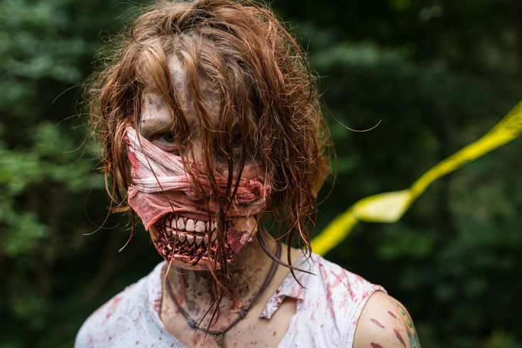 Зомби макияж