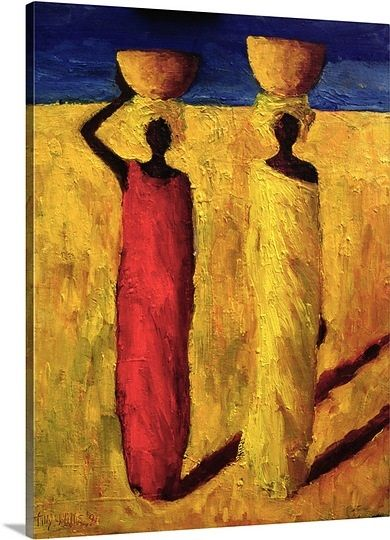 Calabash Girls, 1991 (oil on canvas) Item #1048369 By: Tilly Willis