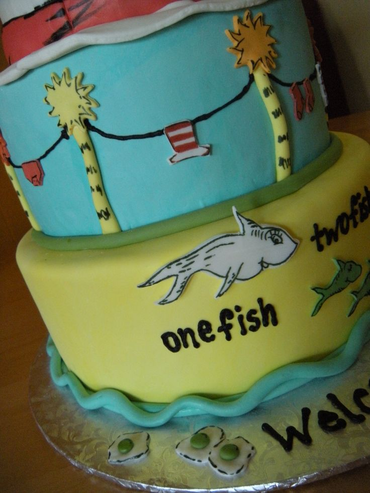 17 Best Images About Dr Seuss Shower Cake On Pinterest